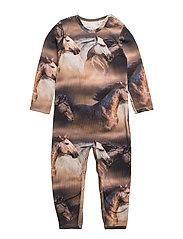 Horse photo bodysuit - INK