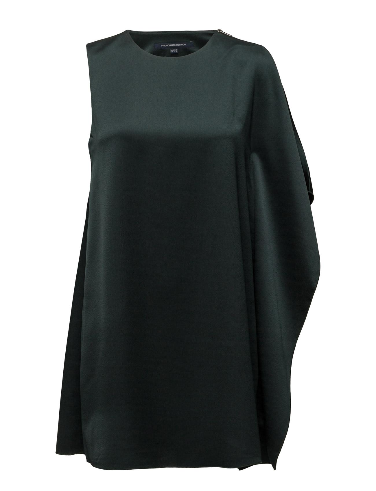 Sasha Satin S/Lss Fluted Dress French Connection Korte kjoler til Kvinder i