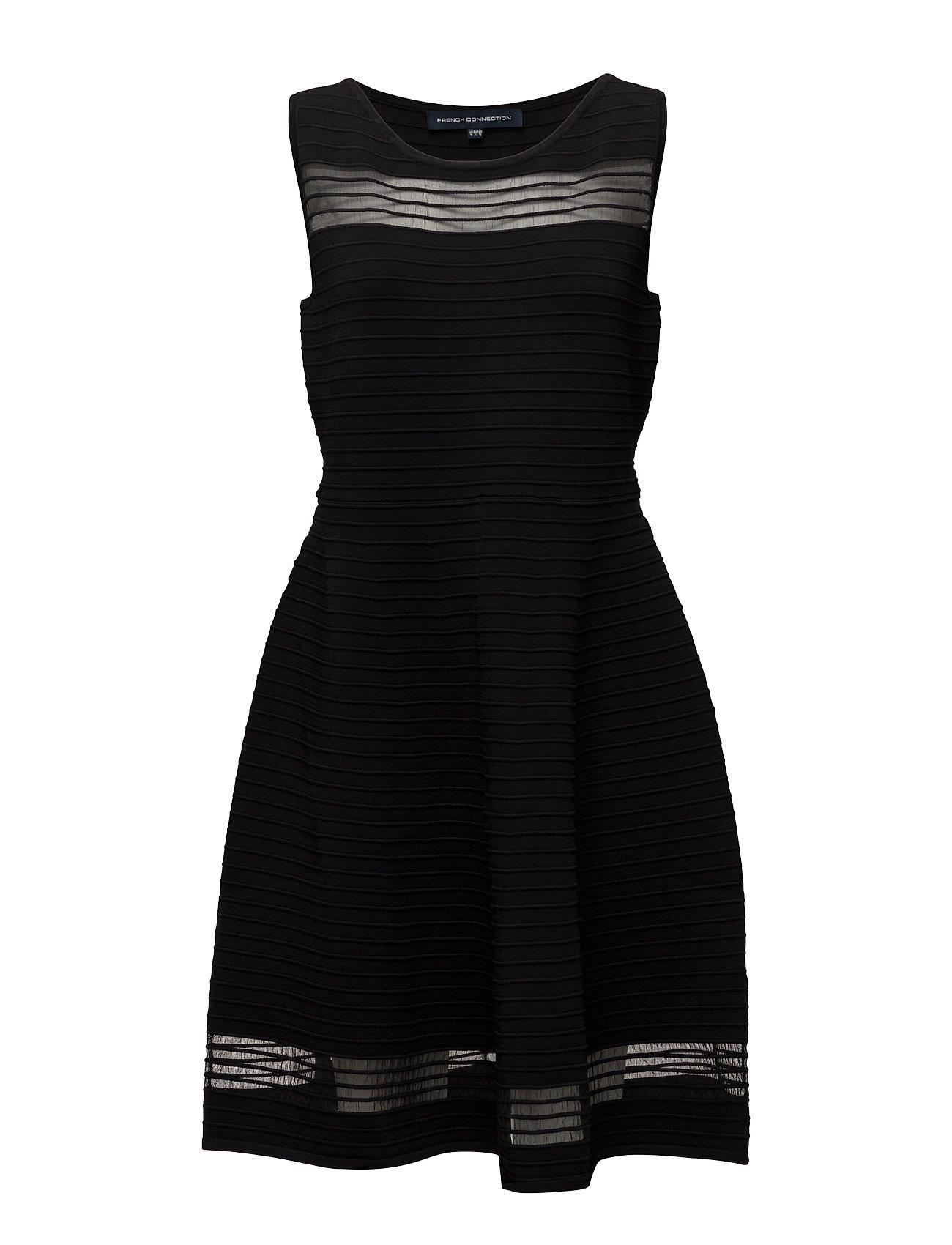 Tobey Crepe Knits S/Ls Flr Lng French Connection Korte kjoler til Damer i Sort