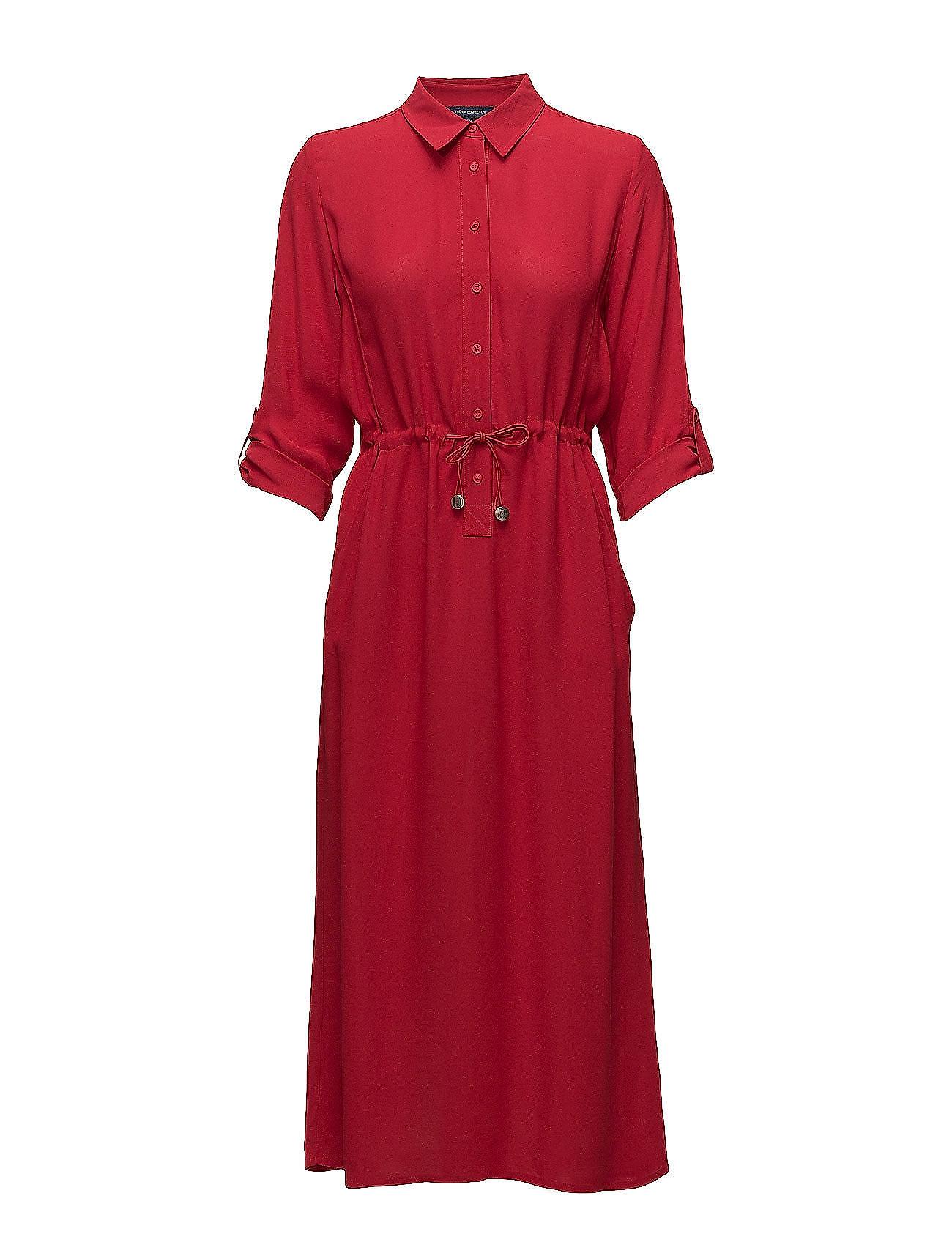 Cecil drape 3 4 sleeve mavi shirt dress blazer red 140 for French connection shirt dress