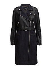 IDOL COATING LS BELTED TRENCH - NOCTURNAL/BLACK