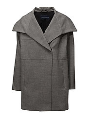 French Connection - Bennie Wool Ls Wide Collr Coat