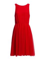 WINTER SPELLS FLARE DRESS - ROYAL SCARLET