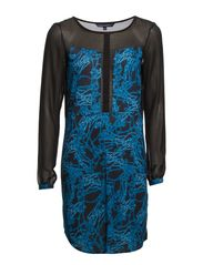 STELLAR ICE JERSEY TUNIC DRESS - Utiltiy Blue/Black