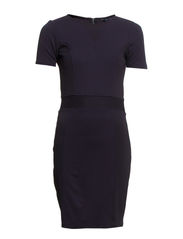 MANHATTAN TEXTURED PANEL DRESS - UTILITY BLUE