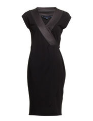 TABITHA TUX WINTER DRESS - BLACK