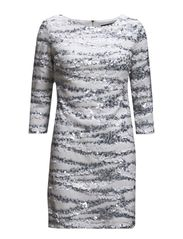 MIAMI SANDS L/S SLSH NK DRESS - SUMMER WHITE MULTI