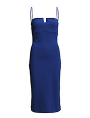 MARIE STRETCH STRPPY FITTED DS - ELECTRIC BLUE