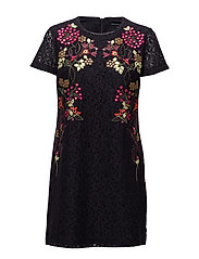 LEGERE LACE SS TUNIC DRESS - UTILITY BLUE MULTI