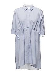 SMITHSON STRIPED SHIRT DRESS - SALT WATER/SMMRWHT