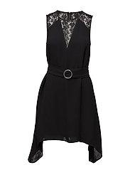 HENNESSY DRAPE S/LSS DRESS - BLACK