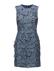 MANZONI LACE S/LSS DRESS - MERU BLUE