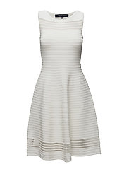 TOBEY CREPE KNITS S/LS FLR LNG - SUMMER WHITE