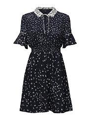 French Connection. Komo drape short sleeve flared dress ...