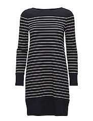 French Connection - Tim Tim Long Sleeve Round Neck Tunic Dress