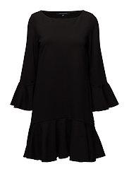 MATUKU LULA JERSEY BELLSLEEVE DRESS - BLACK