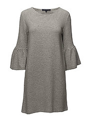 PAROS SUDAN BELL SLEEVE  TUNIC - LIGHT GREY MEL