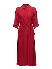 CECIL DRAPE 3/4 SLEEVE MAVI SHIRT DRESS - BLAZER RED