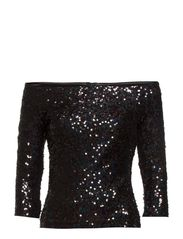 COSMIC SPARKLE SLSHNK TOP - BLACK HOLOGRAM