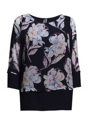 SHADOW BLOOM L/S TUNIC TOP - NCTRNL/NCTRNL MULTI