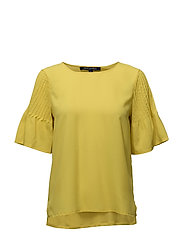 French Connection - Classic Crepe Light Fluted Sleve Top