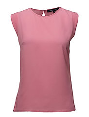 CLASSIC CREPE LIGHT CAPPED SLEEVE TEE - CHATEAU ROSE