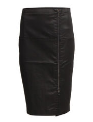 GAZELLE FRONT ZIP PENCIL SKIRT - BLACK