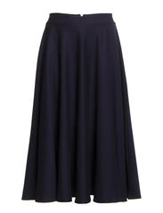 MARIE STRETCH FLARED SKIRT - UTILITY BLUE