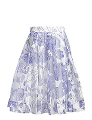 WATER GARDEN SHEER SKIRT - SUMMER WHITE MULTI