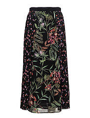 BLUHM BOTERO SHEER MAXI SKIRT - BLACK MULTI