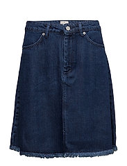 ENCEL DENIM SKIRT - WASHED BLUE