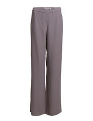 EMMELINE CREPE FLARED TROUSER - GREY OTTER