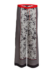 IMPERIAL DRAPE FLARED TROUSER - UTILITY BLUE MULTI