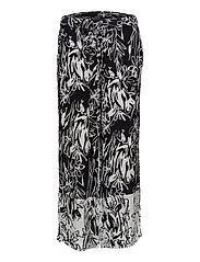 COPLEY CREPE FLRD TROUSER - BLACK/SUMMER WHITE
