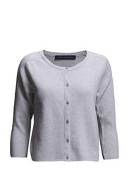 PORT MIAMI SPARKLE KNITS CARDI - LIGHT GREY MEL