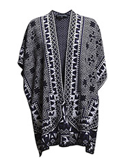 GEO JACQUARD SHAWL JUMPER - SMRWHTE/BLK/NAVY