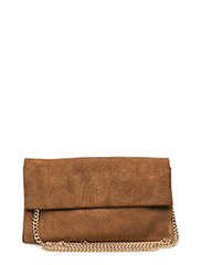 SOFT SUEDE LEAH CHAINSTRAP - ADOBE TAN/SHNY GOLD