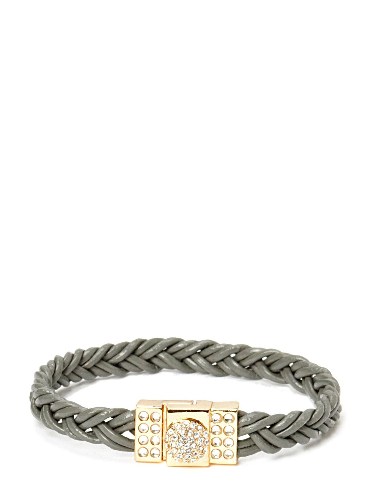 Friis & Company Pear Circle Braided Gold Bracelet