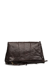 thyme oversized leather clutch - MOCCA