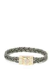 Pear Circle Braided Gold Bracelet