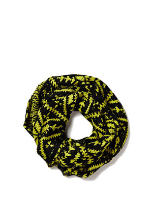 Nikki Knit Tupe Scarf - Neon Yellow