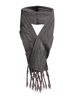 Dana Hooded Knit scarf - Antracit