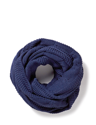 Dana Knit Tube scarf - Navy