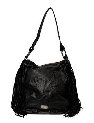 Cheering Leather Bucketbag - Black
