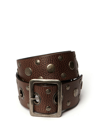 Halo Leather Belt - Mocca