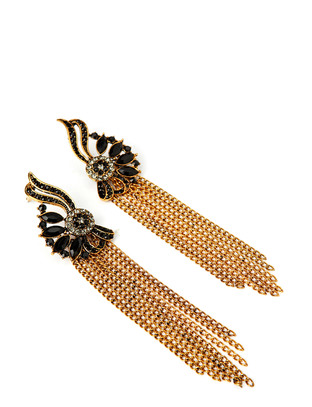 Tangent Earrings - Antique Gold