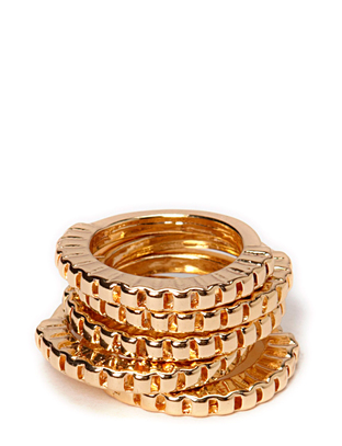 Indiana Ring Set - Gold