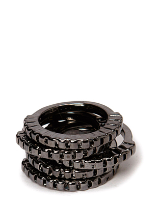 Indiana Ring Set - Gunmetal