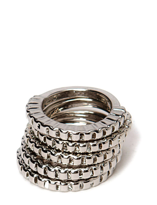 Indiana Ring Set - Silver