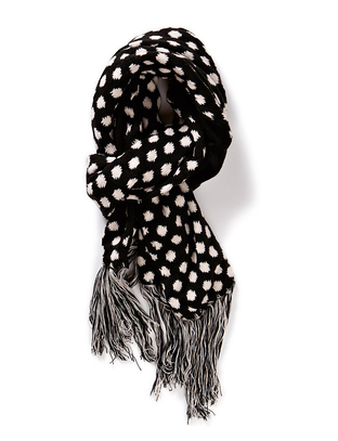 Soya Knitted Scarf - Black